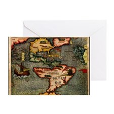 Map of the Americas Greeting Cards (Pk of 20)