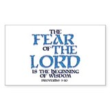 Fear of the Lord Rectangle Decal