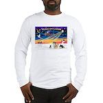 XmasSunrise/4 Pomeranians Long Sleeve T-Shirt