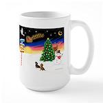 XmasSigns/2 Dachshunds Large Mug