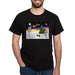 XmasSigns/2 Dachshunds Dark T-Shirt