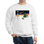 XmasSigns/2 Dachshunds Sweatshirt