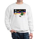 XmasSigns/2 Dachshunds Sweatshirt