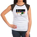 XmasSigns/2 Dachshunds Women's Cap Sleeve T-Shirt