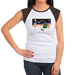 XmasSigns/2 Dachshunds Women's Cap Sleeve T-Shirt