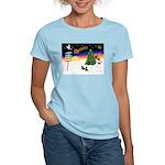 XmasSigns/2 Dachshunds Women's Light T-Shirt