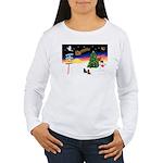 XmasSigns/2 Dachshunds Women's Long Sleeve T-Shirt