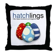 Cute Eggs Throw Pillow
