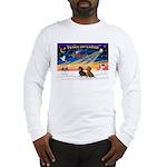 XmasSunrise/2 Dachshunds Long Sleeve T-Shirt