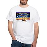 XmasSunrise/2 Dachshunds White T-Shirt