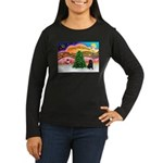 XmasMusic2/Shar Pei Women's Long Sleeve Dark T-Shi