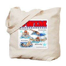 Swimming (F) Tote Bag