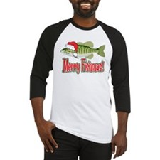 Merry Fishmas Baseball Jersey