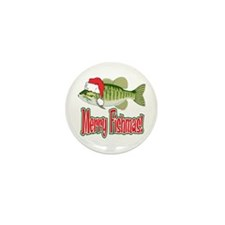 Merry Fishmas Mini Button (100 pack)