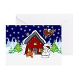 Cute Sheltie Christmas Greeting Cards (Pk of 20)
