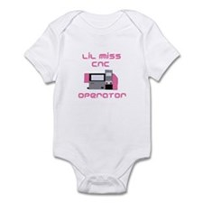 Funny girls CNC Operator Infant Onesie Bodysuit