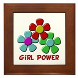 Girl Power Framed Tile