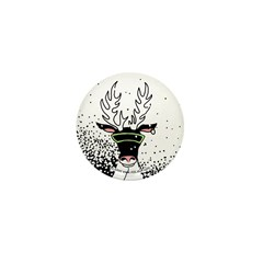 Snow Storm Reindeer Mini Button (100 pack)
