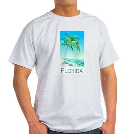 Florida Palms Ash Grey T-Shirt