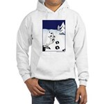 Tracks in the Snow Hooded Sweatshirt