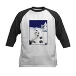 Tracks in the Snow Kids Baseball Jersey