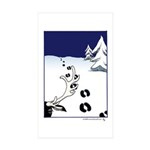 Tracks in the Snow Sticker (Rectangle 10 pk)