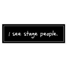 Stage People Black Bumper Sticker (50 pack)