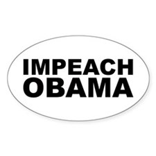IMPEACH OBAMA Oval Decal