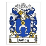 Pobog Family Crest Small Poster