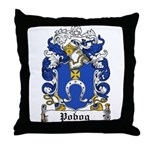 Pobog Family Crest Throw Pillow