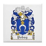 Pobog Family Crest Tile Coaster