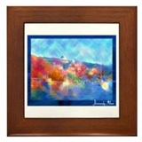 Cute Southern ocean Framed Tile