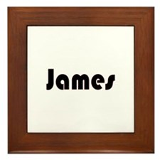 James Framed Tile