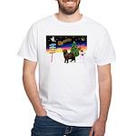 XmasSigns/Newfie White T-Shirt