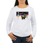 XmasSigns/Newfie Women's Long Sleeve T-Shirt