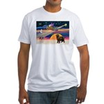 XmasStar/ Newfie Fitted T-Shirt