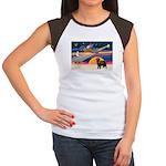 XmasStar/ Newfie Women's Cap Sleeve T-Shirt
