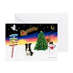 XmasSigns/BorderCollie 4 Greeting Cards (Pk of 10)