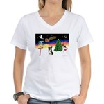 XmasSigns/BorderCollie 4 Women's V-Neck T-Shirt