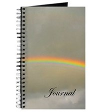Gray journal with a rainbow on the front