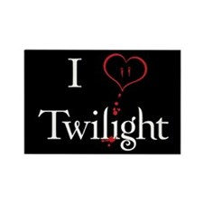 I Love Twilight Rectangle Magnet