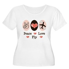 Peace Love Fly Pilot T-Shirt