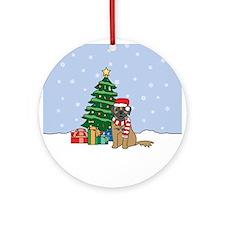 Leonberger Christmas Ornament (Round)