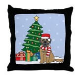 Leonberger Christmas Throw Pillow