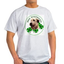 Irish Shamrock WolfHound Ash Grey T-Shirt