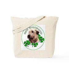 Irish Shamrock WolfHound Tote Bag