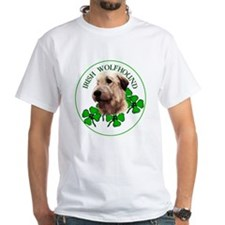 Irish Shamrock WolfHound White T-shirt