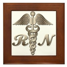 RN Caduceus Framed Tile