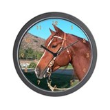 Western Horse Clock
