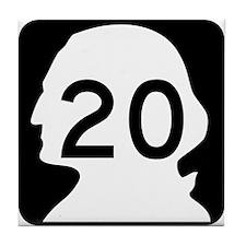 State Route 20, Washington Tile Coaster